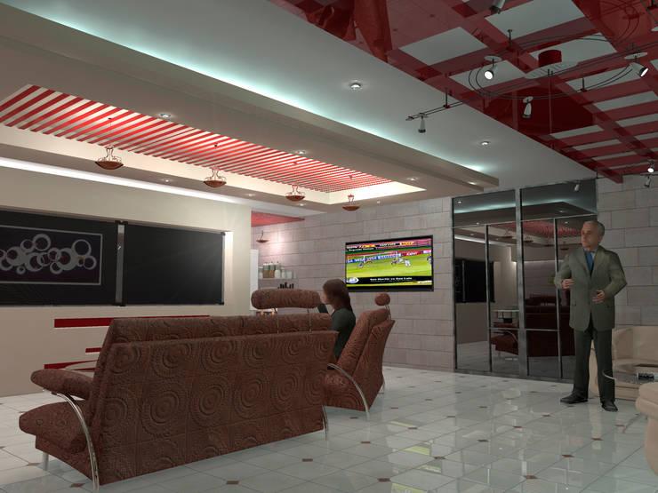 Interior 3: Salones para eventos de estilo  por HC Arquitecto