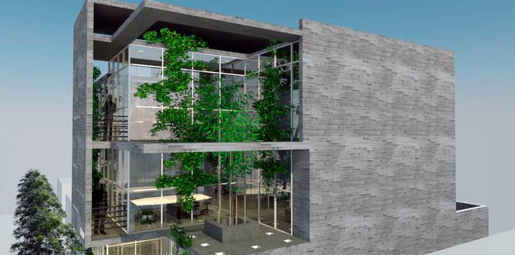 3D Edificio de oficinas: Estudios y oficinas de estilo  por triAda