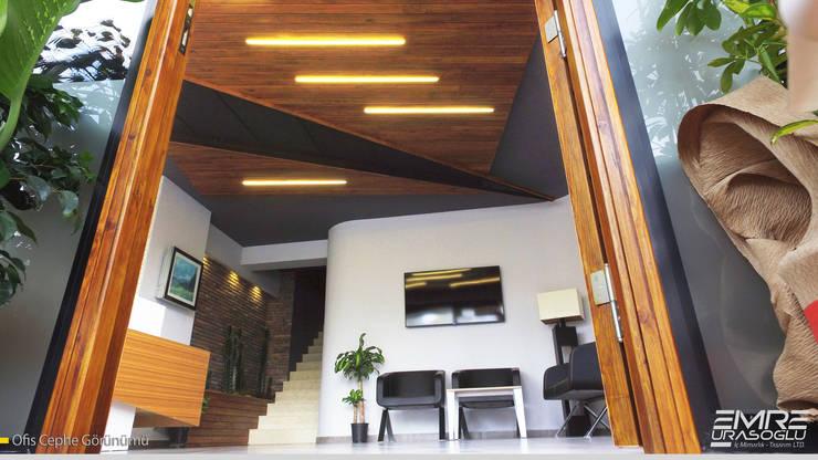 Emre Urasoğlu İç Mimarlık Tasarım Ltd.Şti. – Sekreterya ve Bekleme Alanı:  tarz Çalışma Odası, Modern Ahşap-Plastik Kompozit