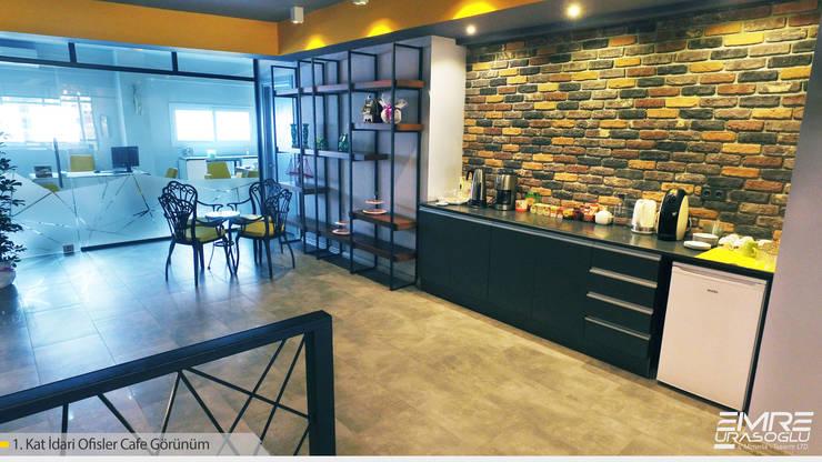 Emre Urasoğlu İç Mimarlık Tasarım Ltd.Şti. – İdari ofisler cafeterya:  tarz Çalışma Odası, Modern Ahşap-Plastik Kompozit