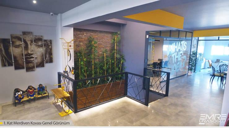 Emre Urasoğlu İç Mimarlık Tasarım Ltd.Şti. – Merdiven Kovası:  tarz Çalışma Odası, Modern Ahşap-Plastik Kompozit