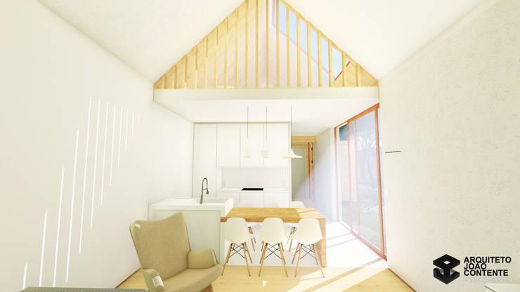 Arquiteto João Contente - Casa Simbiotica Cozinha:   por Arquiteto João Contente Associados