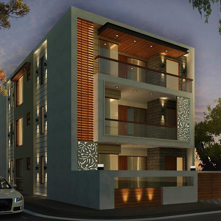 house design in chandigarh: modern Houses by AN ARCHITECTS GROUP