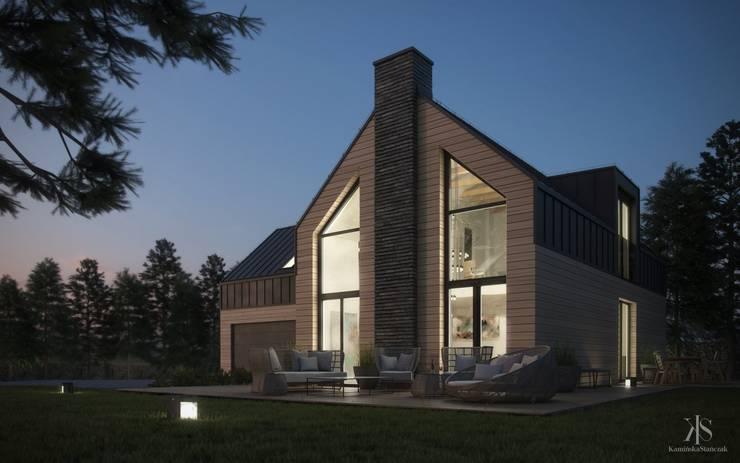Dom pod Lublinem: styl , w kategorii Domy zaprojektowany przez Kamińska Stańczak