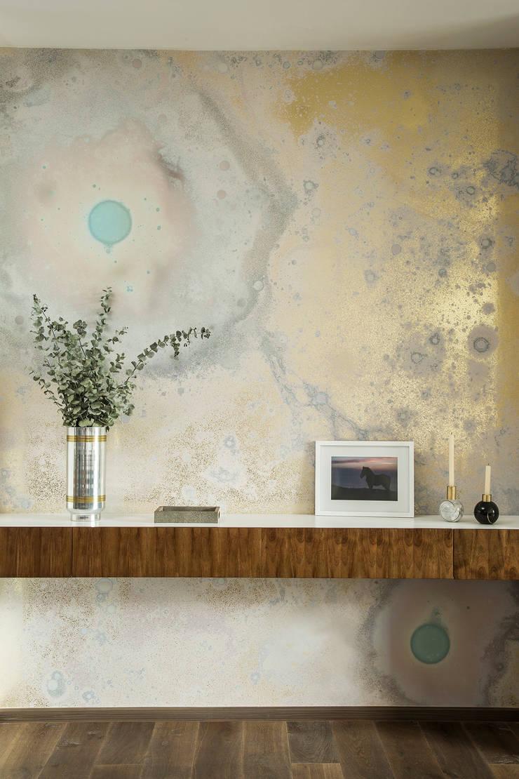 PASILLO ENTRADA : Vestíbulos, pasillos y escaleras de estilo  por Ploka 8.7