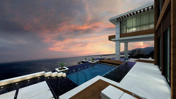Villa Sofio: Casas de estilo  por NOGARQ C.A.
