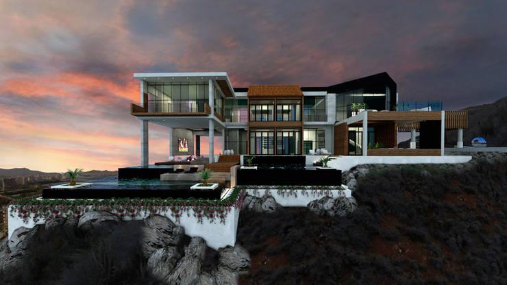 Villa Sofio: Casas de estilo moderno por NOGARQ C.A.