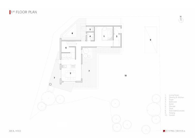 서생면 단독주택 '8 5 3 . HOUSE': 민 아키텍츠 건축사사무소의