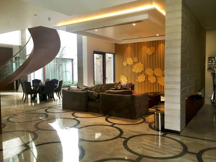 غرفة المعيشة تنفيذ 23DC Architects