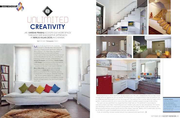 Featured on Society Interiors, October, 2015:  Houses by Urban Shaastra