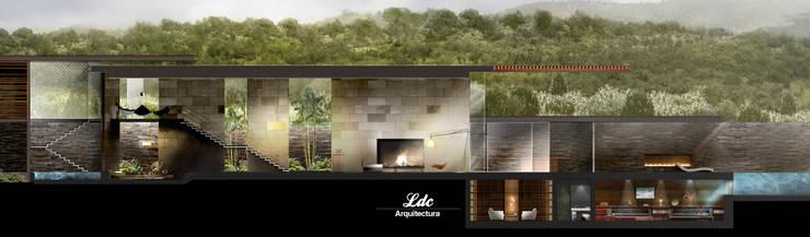 Villa SZ:  de estilo  por LDC Arquitectura,