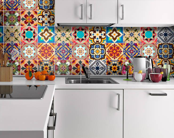 Talavera Traditional Tile Decals: Cozinha  por MOONWALLSTICKERS.COM