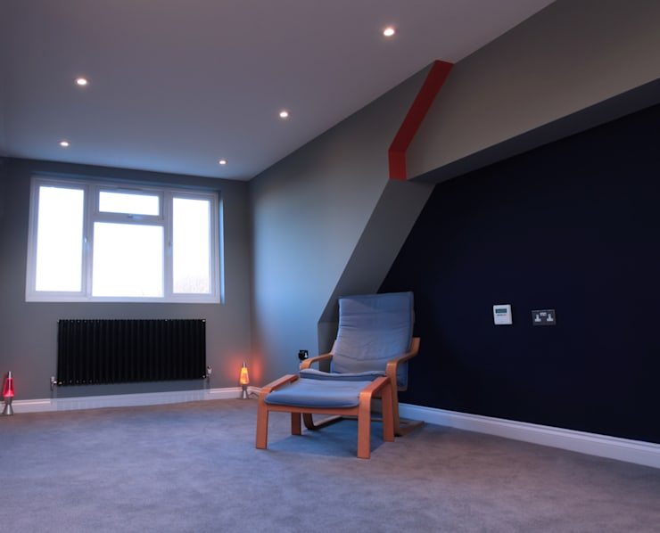 A perfect loft conversion to hide away!:  Bedroom by The Market Design & Build