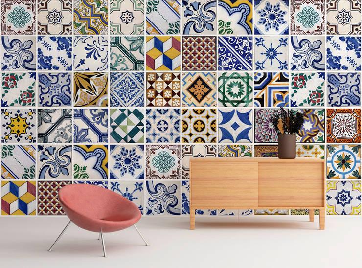 Portuguese Tiles Wall Art:   por MOONWALLSTICKERS.COM