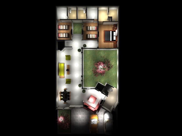 Projekty,  Domy zaprojektowane przez PUNTO A PUNTO ARQUITECTURA