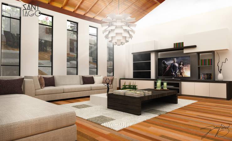 Proyecto MH: Salas de estilo  por SANT1AGO arquitectura y diseño