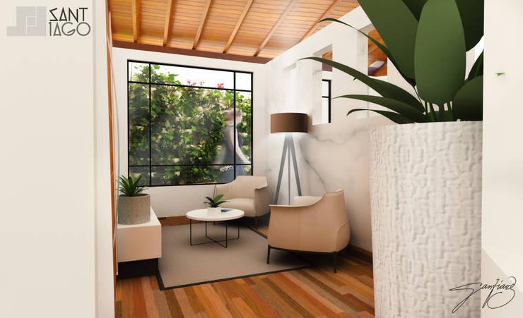 vestubulo: Salas de estilo  por SANT1AGO arquitectura y diseño