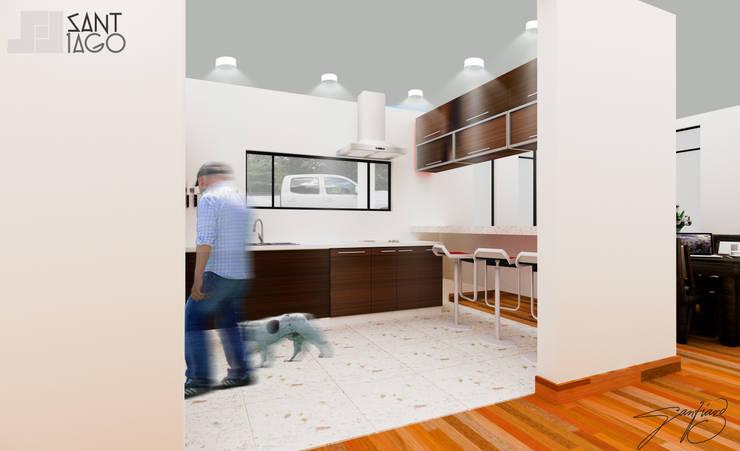 cocina: Cocinas de estilo  por SANT1AGO arquitectura y diseño