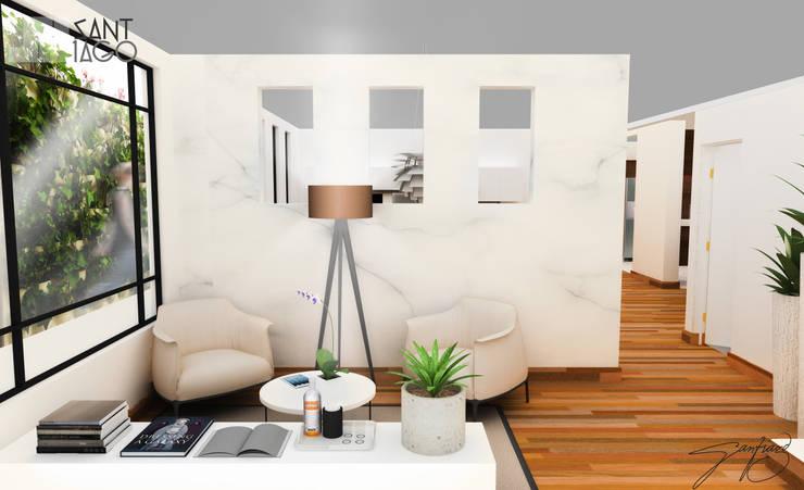 vestibulo: Salas de estilo  por SANT1AGO arquitectura y diseño