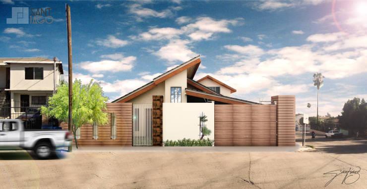 fechda principal: Casas de estilo  por SANT1AGO arquitectura y diseño