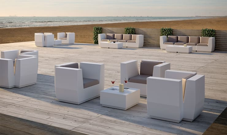 Big Cut Module: Balcones y terrazas de estilo  por Distrito 55