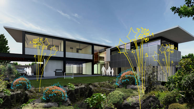 Jardines del Pedregal Sustentable:  de estilo  por NOSOTROS TIERRA