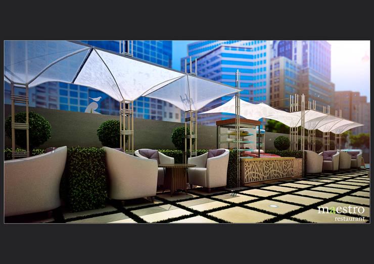 Ресторан <q> Maestro</q> \ Экстерьер от Sweet Home Design Модерн