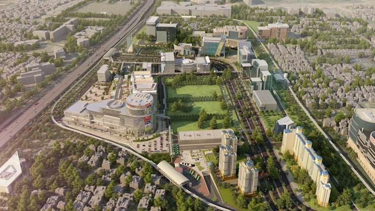 DLF Cyber City Redevelopment:  Commercial Spaces by VR Real Technologies (VRRT),Industrial