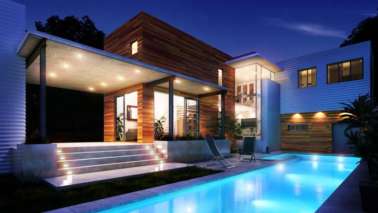 Renders Casa en Zona Norte:  de estilo  por Renders + Arquitectura,