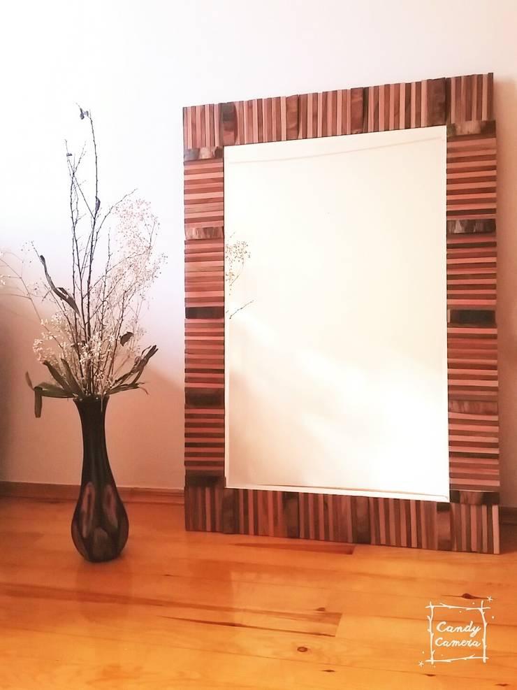 34Concept – Dekoratif Rustik Özel Tasarım Duvar Aynası:  tarz İç Dekorasyon