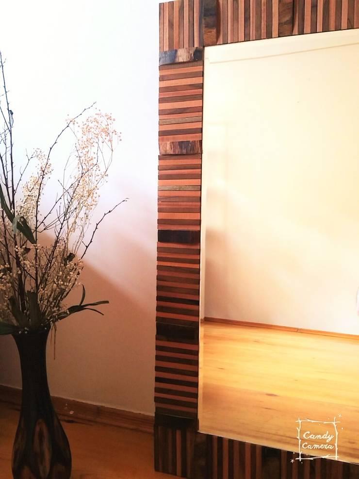 34Concept – Dekoratif Rustik Özel Tasarım Duvar Aynası:  tarz Ev İçi