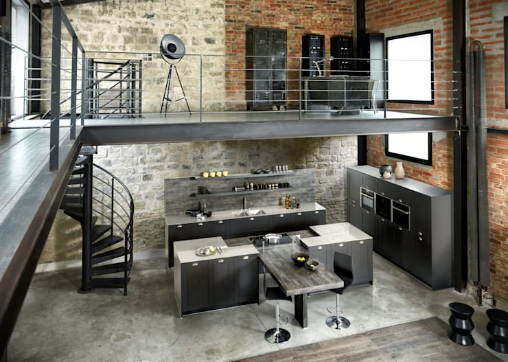 Cocinas de estilo industrial por Schmidt Küchen