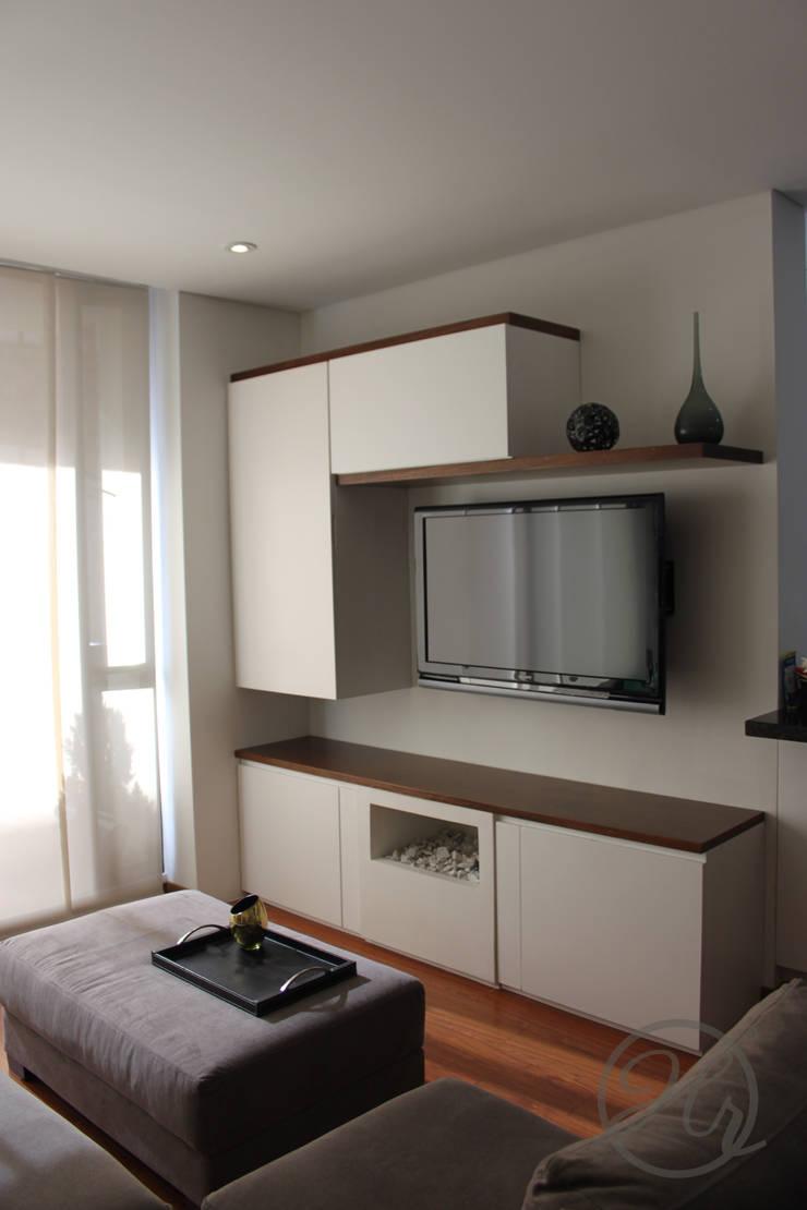 Apartamento 306: Salas de estilo  por Home Reface - Diseño Interior CDMX