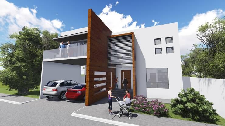 Residencia Santa Bárbara: Casas de estilo  por TEKTÓNIKA arquitectura + diseño