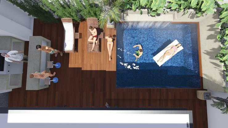 Residencia Santa Bárbara: Albercas de estilo  por TEKTÓNIKA arquitectura + diseño