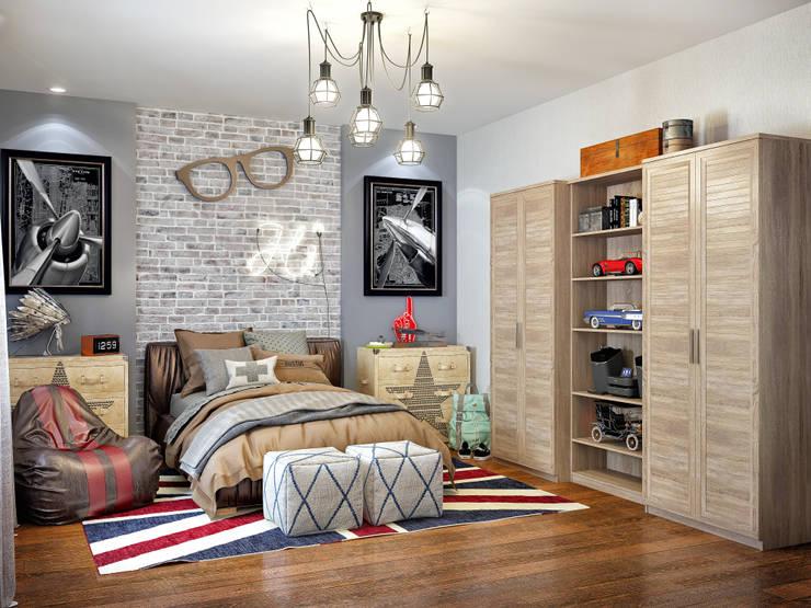 Детская комната для мальчика: Спальни в . Автор – Sweet Home Design, Лофт