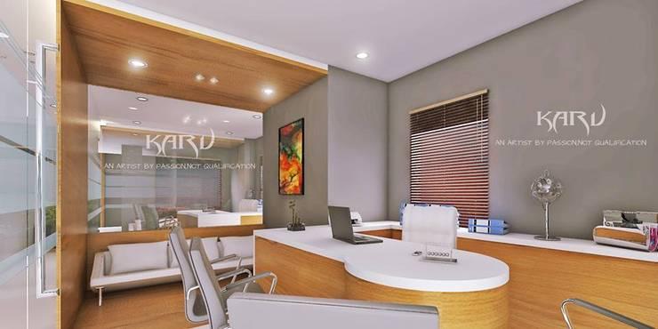 office cabin:  Study/office by KARU AN ARTIST