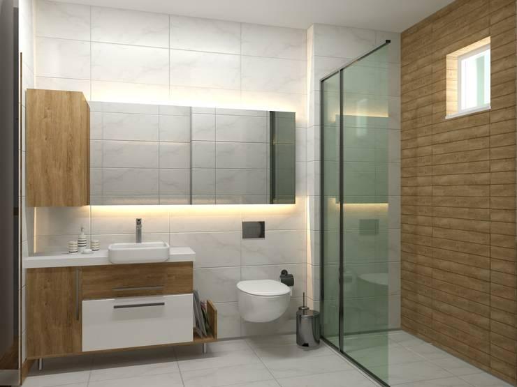 RUBA Tasarım – Antalya Panorama Evleri:  tarz Banyo