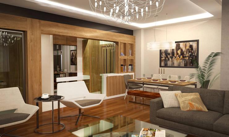 RUBA Tasarım – Antalya Panorama Evleri:  tarz Oturma Odası