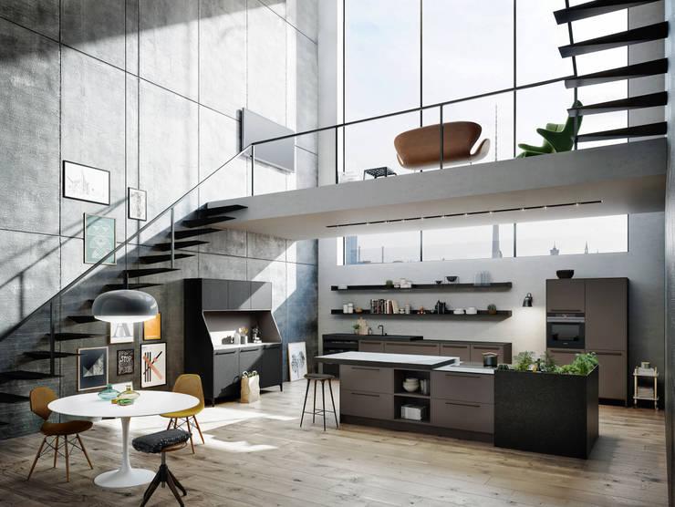 Urbanes wohnen:  Küche von KDE - Küchen Design Essen