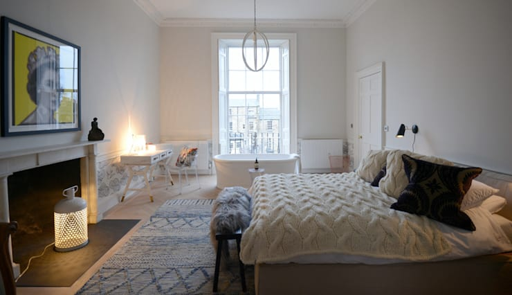 Bedroom by Hen & Crask Edinburgh
