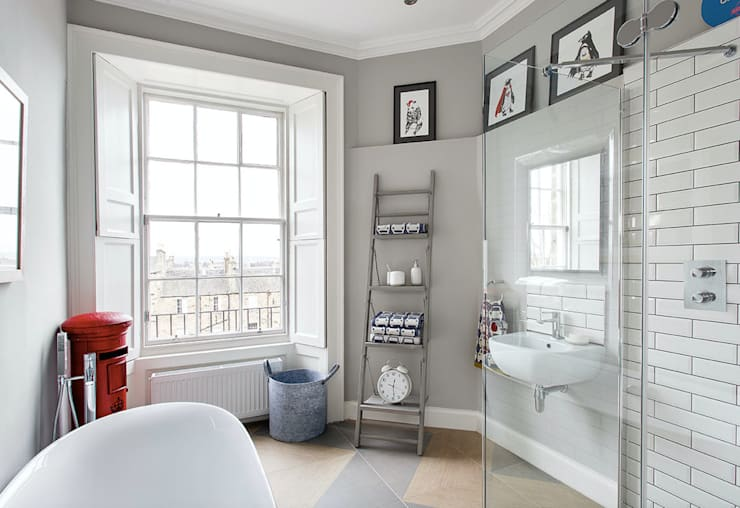 Baños de estilo  por Hen & Crask Edinburgh