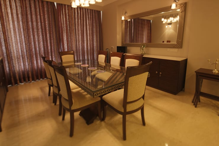 Hibiscus Gurgaon: modern Dining room by ACQ Design