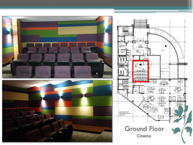 Makoya - Ground Floor - Cinema:  Study/office by Carne Interiors, Modern