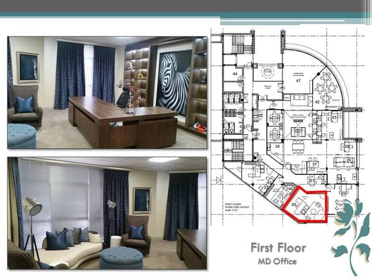 Makoya - First Floor - MD Office:  Study/office by Carne Interiors, Modern