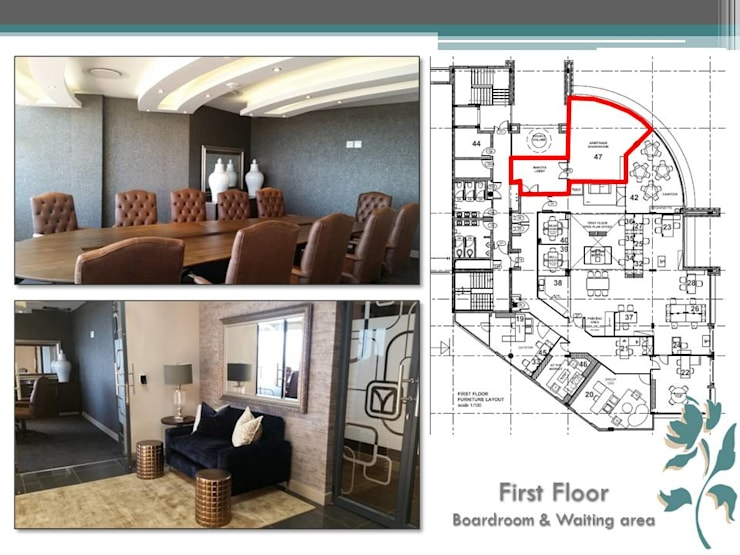 Makoya - First Floor - Boardroom:  Study/office by Carne Interiors, Modern