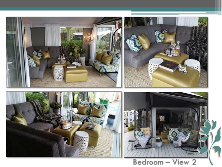 Luxury Tent:  Living room by Carne Interiors