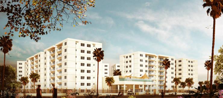 Apartamentos Recife:  de estilo  por Célula Visual
