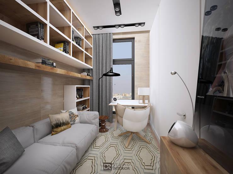 Интерьер квартиры 150 м2,г.Москва: Рабочие кабинеты в . Автор – DesignRush