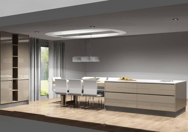 Cozinha com grande amplitude: Cozinhas  por Amplitude - Mobiliário lda
